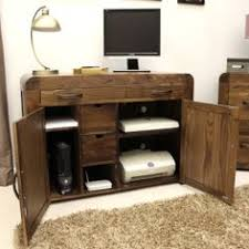 aston solid oak hidden. Solid Walnut Hidden Home Office - Shiro At STORE. Innovative Designed To Hide All Of Your Computer Equipm. Aston Oak