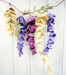 Hanging Paper Flower Backdrop Hanging Paper Wisteria Tutorial Templates Catching Colorflies