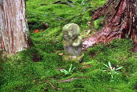 o bosatsu statue in moss at sanzenin ohara