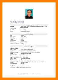 Simple Sample Resume Formato Pdf 9 Simple Resume Sample For Fresh Graduate New