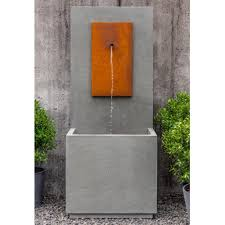 Cor ten steel Steel Panels Mc1 Outdoor Fountaincorten Steel Soothing Company Wayfair Mc1 Fountaincorten Steel Soothing Company