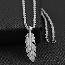 qty this twister mens chain necklace features a feather