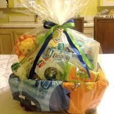 boy baby shower gift basket