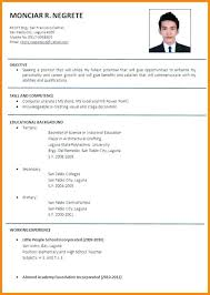 English Resume Plus Two English Resume Writing Project Manager