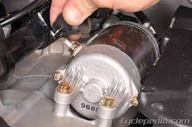 motorcycle starter system troubleshooting cyclepedia check if the starter motor will turn when powered
