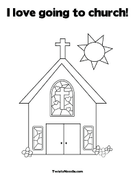 Church Coloring Pages I Love Going To Church Coloring Page From Free