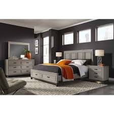 Aspen Home Hyde Park Painted Panel Storage Bedroom Set in Light