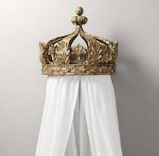 Decorative Distressed Crown Bed Canopy With Hooks | Headboards and ...