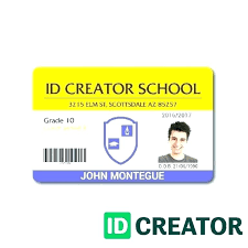 Template Card Id Student Free