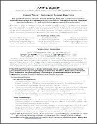 Investment Banker Resume Cool Personal Banker Resume Objective Resume Of A Banker Bank Of Personal