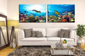 living room art 2 piece canvas wall art wildlife multi panel canvas wildlife on large multi panel canvas wall art with 2 piece large pictures fish huge canvas print turtle multi panel