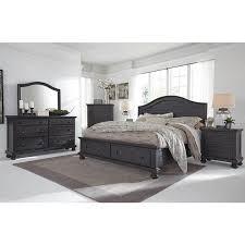 Sharlowe 4-Piece Queen Bedroom Set in Charcoal | Nebraska Furniture ...