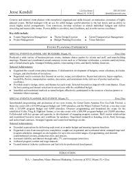 Event Coordinator Cv Example Complete Though Planner Resume
