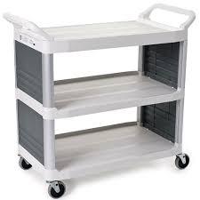 kitchen utility cart. Rubbermaid FG409200OWHT Kitchen Utility Cart