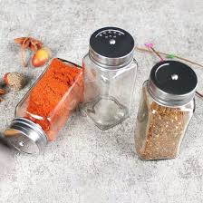 condiment 100ml 300ml clear glass e jar with metal lid