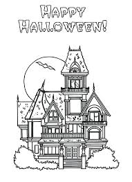 Simple Haunted House Coloring Pages House Coloring Pages Online