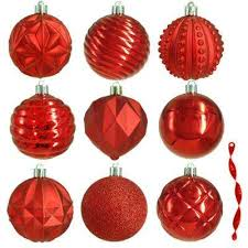 80 mm red ornament assortment 75 pack