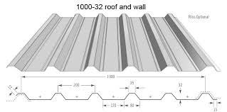 roof and wall sheet 32 1000