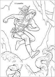 Small Picture STAR WARS Coloring Pages Luke Training With Yoda Coloring Home