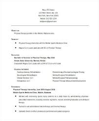 Beginner Resume Examples Classy Physical Therapy Resume Examples From Sample Resume For Entry Level