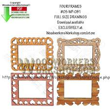 four frames able scrollsaw woodworking pattern