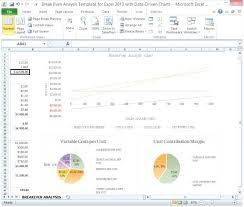 Excel Break Even Analysis Template Price Volume Mix Analysis Excel Template Break Even Analysis