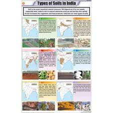 Types Of Soils In India Chart 58x90cm