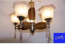 generic wooden crystal chandelier 5 lamps