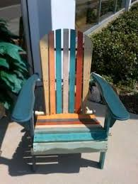 multi colored painted furniture. Eye Catching, Traffic Stopping Adirondack Multi-colored Chair. Multi Colored Painted Furniture E