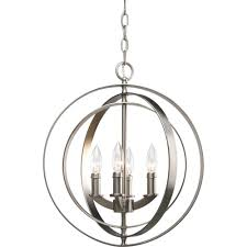 equinox collection 4 light burnished silver orb pendant