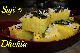 Kitchen Tea Food Suji Dhokla Indian Tea Time Snack Instant Appetizer Smart