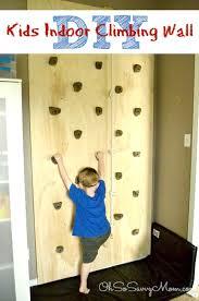 how to build a diy kids climbing wall
