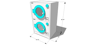 minimum closet size for stackable washer dryer