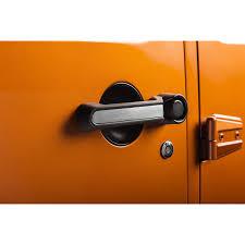 elite door handle inserts aluminum 07 18 jeep wrangler jku 4 door