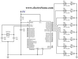 Circuit diagram blinking led using atmega32 avr microcontroller and atmel studio