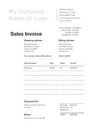 Free Sales Invoice Free Invoice Templates Download Invoice Templates In Pdf