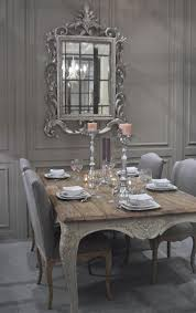 shabby chic dining room furniture. charming shabby chic dining room in french grey with an exquisite carved mirror as art on the wall furniture r