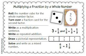 Multiplying Fractions By Whole Numbers Anchor Chart Multiplying Fractions Math Coachs Corner