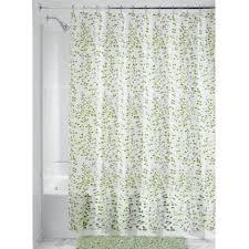 interdesign vines peva vinyl shower curtain