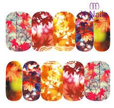 X Nails Barevné Podzimní Vodolepky Na Nehty Podzimní Listí
