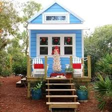 tiny beach house. White Mini Christmas Tree In RV Tiny Beach House S
