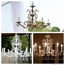 painted chandeliers before and after simple painted chandeliers before and after