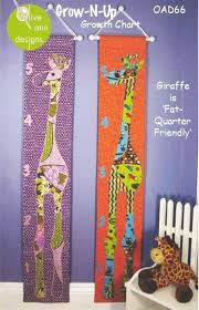 Embroidered Growth Chart Grow N Up Growth Chart Sewing Pattern Embroidery Designs
