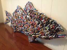 bottle cap furniture. beer cap fish by rockbottombay on etsy bottle furniture