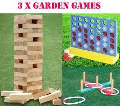 Lawn Game With Wooden Blocks Giant Jenga Garden Games Activities eBay 67