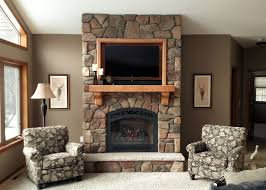 add beautiful texture to your home using stone here we installed cultured stone s dressed fieldstone in chardonnay around fireplace xtrordinair s with