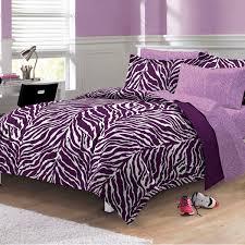 zebra purple bed in a bag set chf queen size