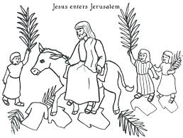 Coloring Pages Palm Sunday Ionheater