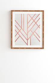 more framing options featuring art deco rose gold framed wall art on rose gold wall art large with art deco rose gold framed wall art elisabeth fredriksson