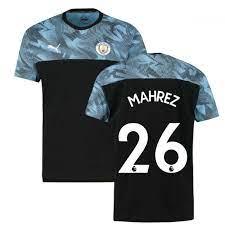 2019-2020 Manchester City Puma Casuals Tee (Black) (Mahrez 26)  [75610017-151979] - $69.06 Teamzo.com